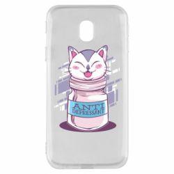 Чехол для Samsung J3 2017 AntiDepressant Cat