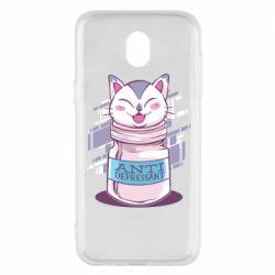 Чехол для Samsung J5 2017 AntiDepressant Cat