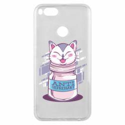 Чехол для Xiaomi Mi A1 AntiDepressant Cat