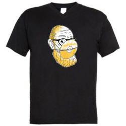 Чоловіча футболка з V-подібним вирізом Antivirus
