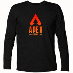 Футболка з довгим рукавом Apex legends gradient logo