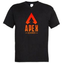 Чоловіча футболка з V-подібним вирізом Apex legends gradient logo