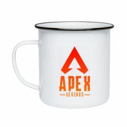 Кружка емальована Apex legends gradient logo