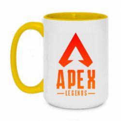 Кружка двоколірна 420ml Apex legends gradient logo