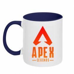 Кружка двоколірна 320ml Apex legends gradient logo