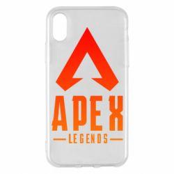 Чохол для iPhone X/Xs Apex legends gradient logo