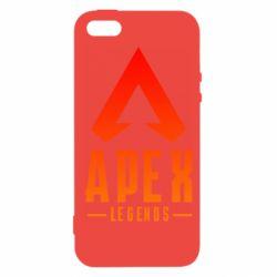 Чохол для iphone 5/5S/SE Apex legends gradient logo