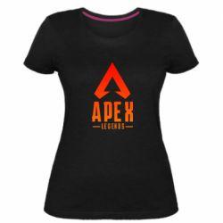 Жіноча стрейчева футболка Apex legends gradient logo