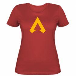 Женская футболка Apex legends logotype
