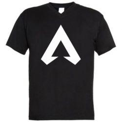 Мужская футболка  с V-образным вырезом Apex legends logotype