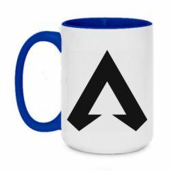 Кружка двухцветная 420ml Apex legends logotype