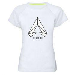 Жіноча спортивна футболка Apex legends low poly