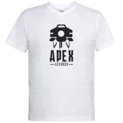 Мужская футболка  с V-образным вырезом Apex Legends symbol health