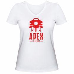 Женская футболка с V-образным вырезом Apex Legends symbol health