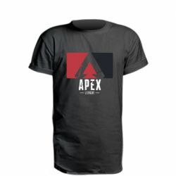 Удлиненная футболка Apex red-black