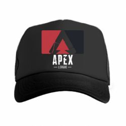 Кепка-тракер Apex red-black