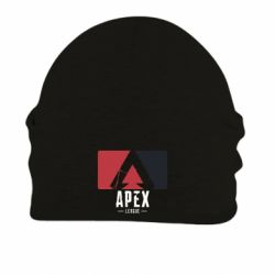 Шапка на флисе Apex red-black