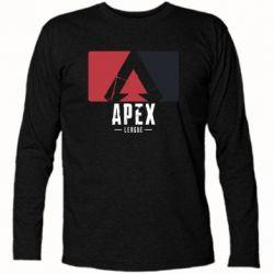 Футболка з довгим рукавом Apex red-black