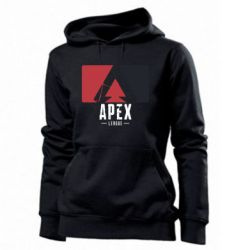 Толстовка жіноча Apex red-black