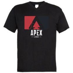Чоловіча футболка з V-подібним вирізом Apex red-black