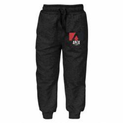Дитячі штани Apex red-black