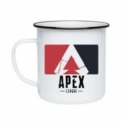 Кружка емальована Apex red-black