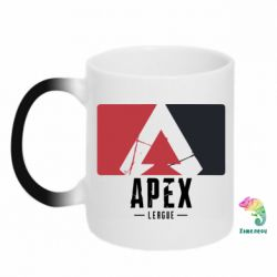Кружка-хамелеон Apex red-black