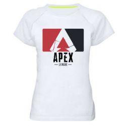 Жіноча спортивна футболка Apex red-black