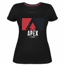 Жіноча стрейчева футболка Apex red-black