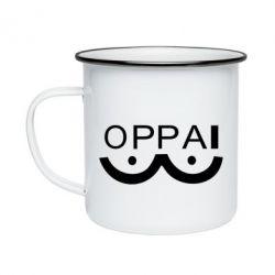 Кружка емальована OPPAI