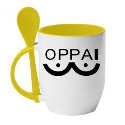 Кружка з керамічною ложкою OPPAI
