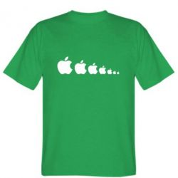 Мужская футболка Apple Evolution - FatLine