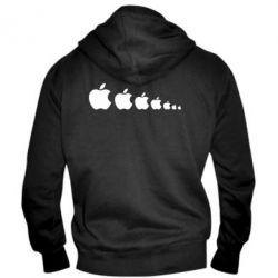 Мужская толстовка на молнии Apple Evolution - FatLine