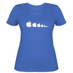 Женская футболка Apple Evolution - FatLine