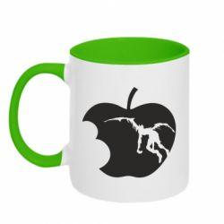 Кружка двоколірна 320ml Apple Ryuk