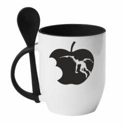 Кружка з керамічною ложкою Apple Ryuk