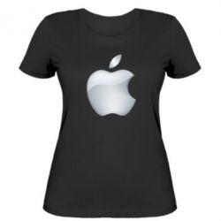 Жіноча футболка Apple Silver - FatLine