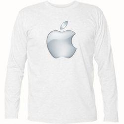 Футболка з довгим рукавом Apple Silver - FatLine