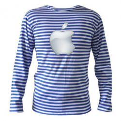 Тільняшка з довгим рукавом Apple Silver - FatLine