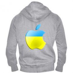 Мужская толстовка на молнии Apple Ukraine - FatLine