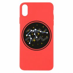 Чехол для iPhone X/Xs Aquarius constellation