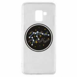 Чехол для Samsung A8+ 2018 Aquarius constellation