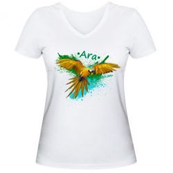 Женская футболка с V-образным вырезом Ara, FatLine  - купить со скидкой