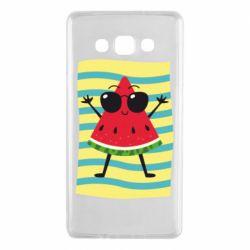 Чехол для Samsung A7 2015 Арбуз на пляже
