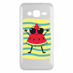 Чехол для Samsung J3 2016 Арбуз на пляже
