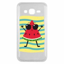 Чехол для Samsung J5 2015 Арбуз на пляже