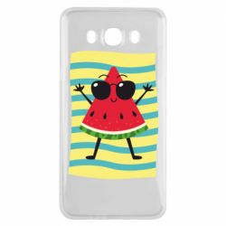 Чехол для Samsung J7 2016 Арбуз на пляже