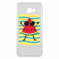 Чехол для Samsung J4 Plus 2018 Арбуз на пляже
