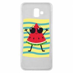 Чехол для Samsung J6 Plus 2018 Арбуз на пляже