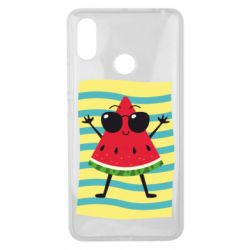 Чехол для Xiaomi Mi Max 3 Арбуз на пляже